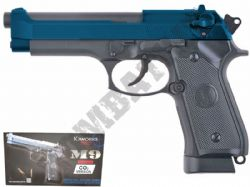 KJW M9 BB Gun Full Metal Beretta Replica Airsoft Pistol CO2 Gas Blowback 2 Tone Blue Black